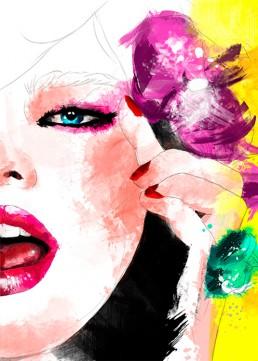 Ilustración digital mujer