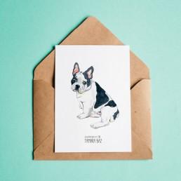 Postal Bulldog francés
