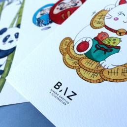 Colección ilustraciones japón