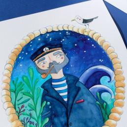 Marinero ilustración