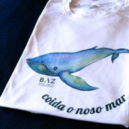 Camiseta ballena ilustrada