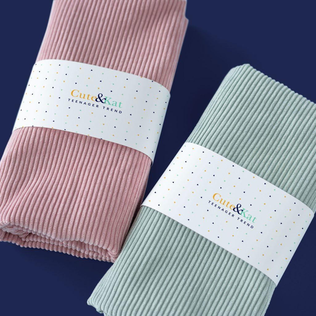 Diseño de marca y aplicaciones para la nueva marca de ropa juvenil Cute&Kat.